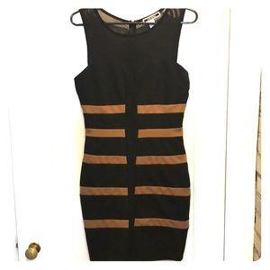 Black dress w/ tan stripes perfect condition